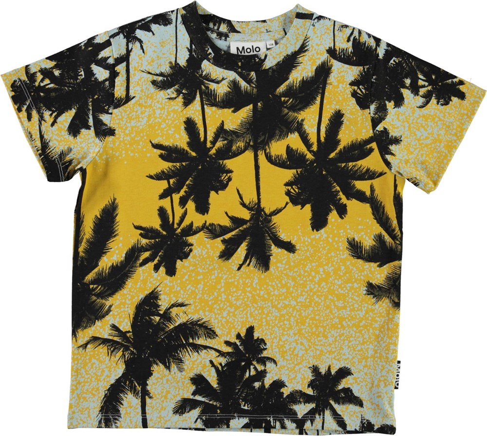 Rame - Sunrise Palms - Organic t-shirt with palm tree print