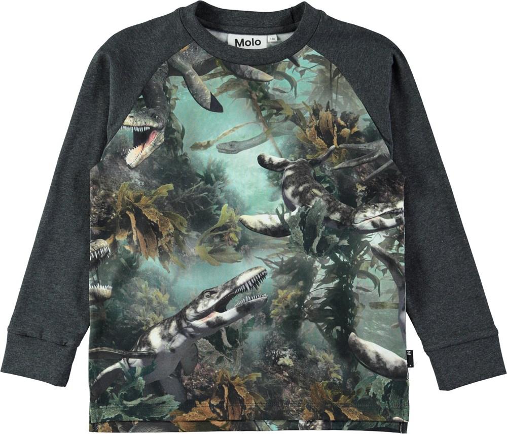 Ramiz - Lake Monters - Long sleeve top with digital lake monsters print