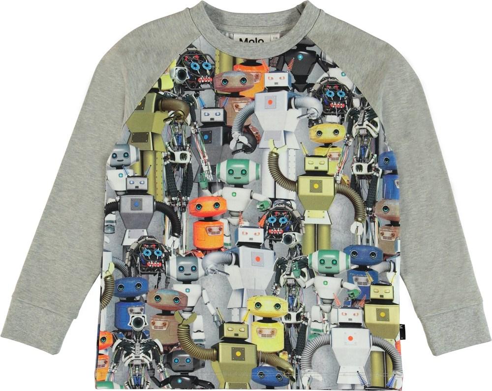 Ramiz - Robots - Top with robot print.