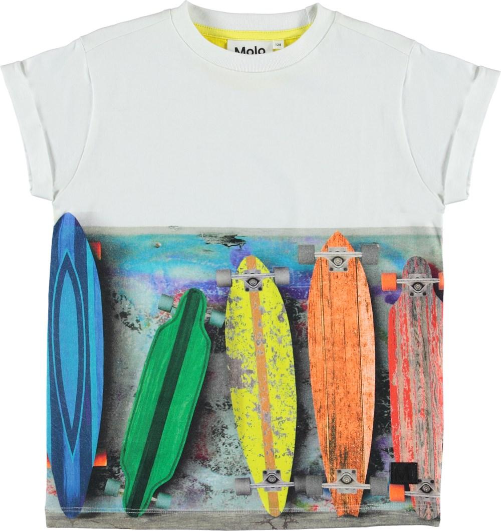 Randon - Rainbow Boards - T-shirt with skateboards