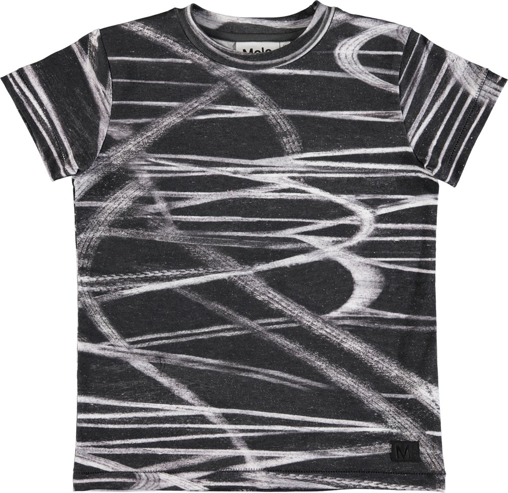 Rapo - Tyre Marks - Short sleeve t-shirt with digital tire mark print