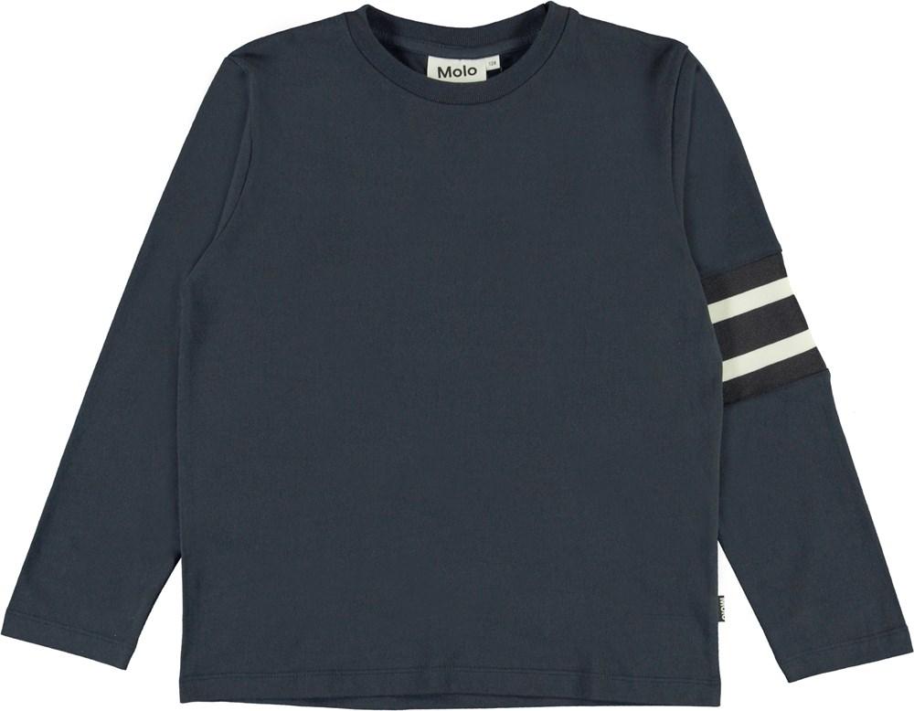 Ras - Dark Navy - Blue top with stripes