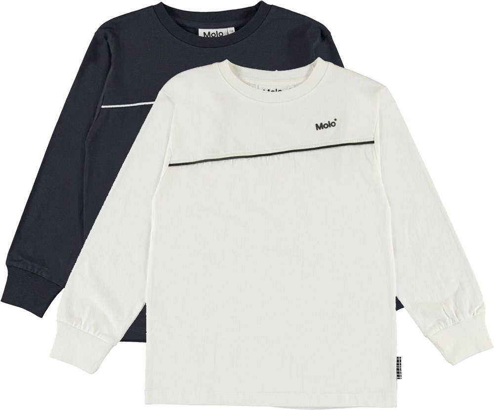 Rasmono 2-Pack - White Black - Organic 2-pack basic top in white and black