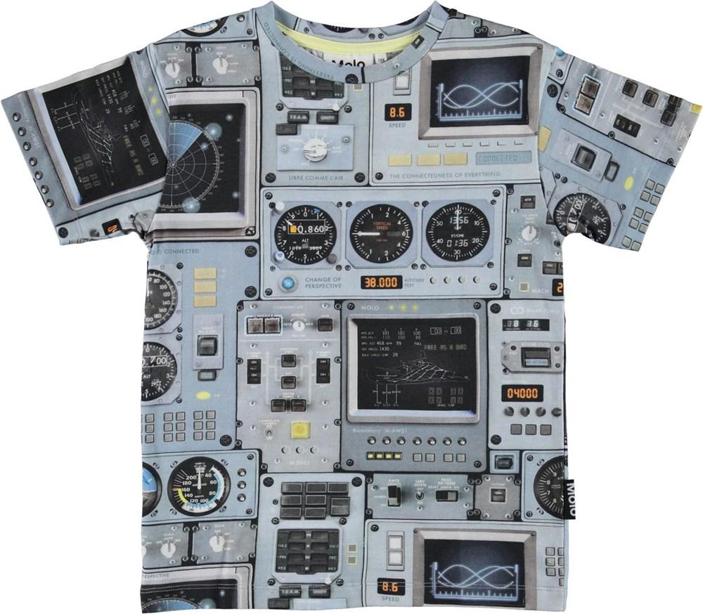 Rasmus - Cockpit - Organic t-shirt with cockpit print