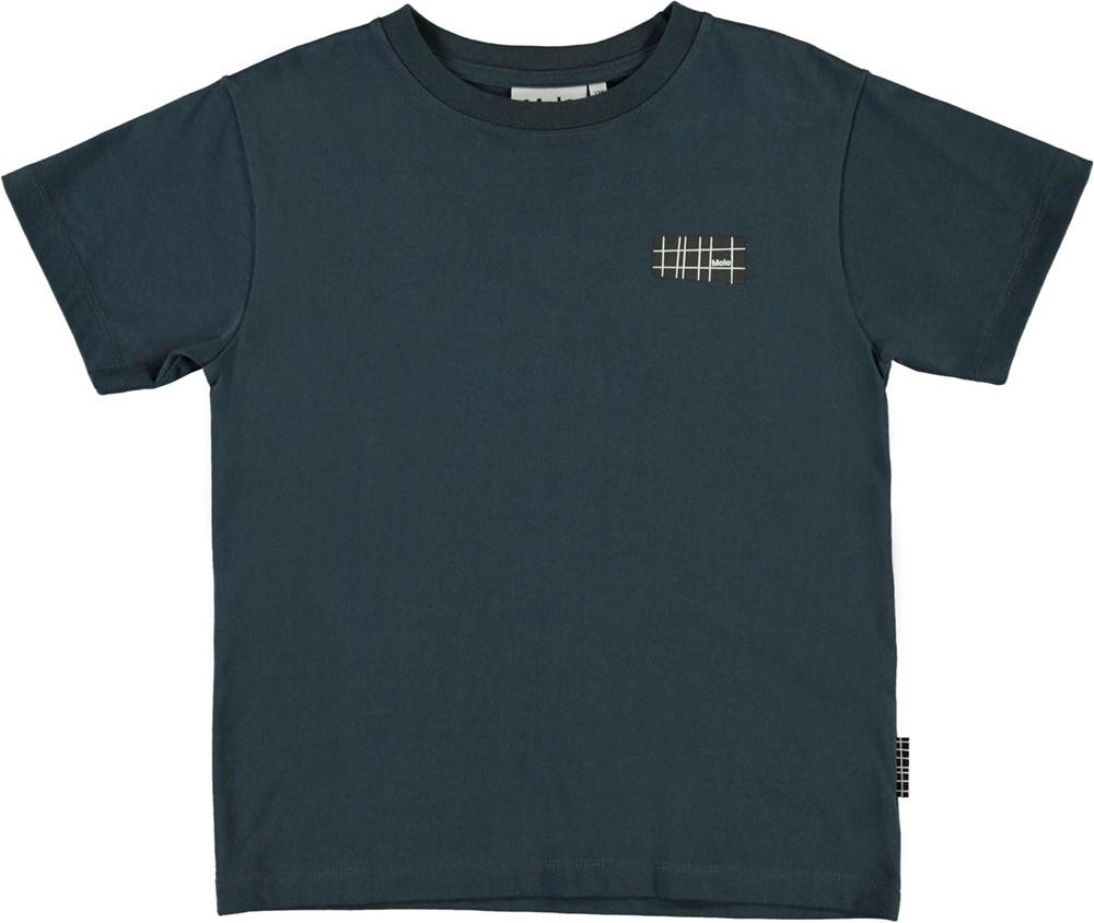 Rasmus - Dark Navy - Dark blue organic t-shirt