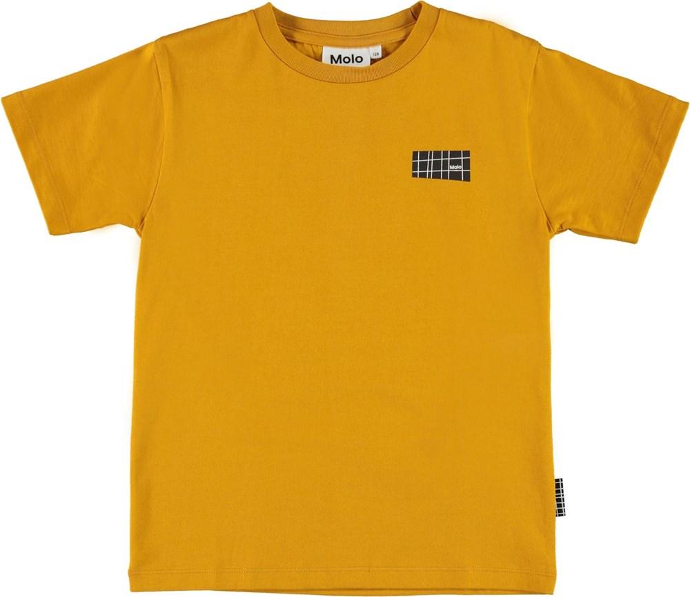 Rasmus - Honey - Yellow organic t-shirt