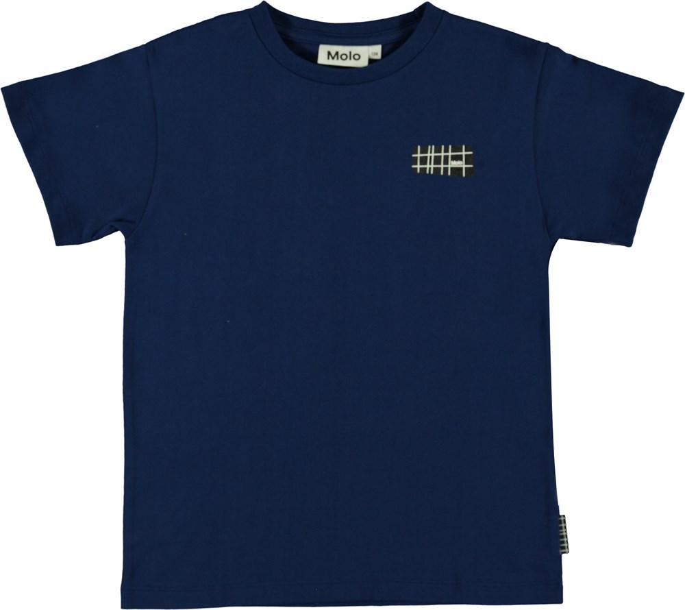 Rasmus - Ink Blue - Blue organic t-shirt