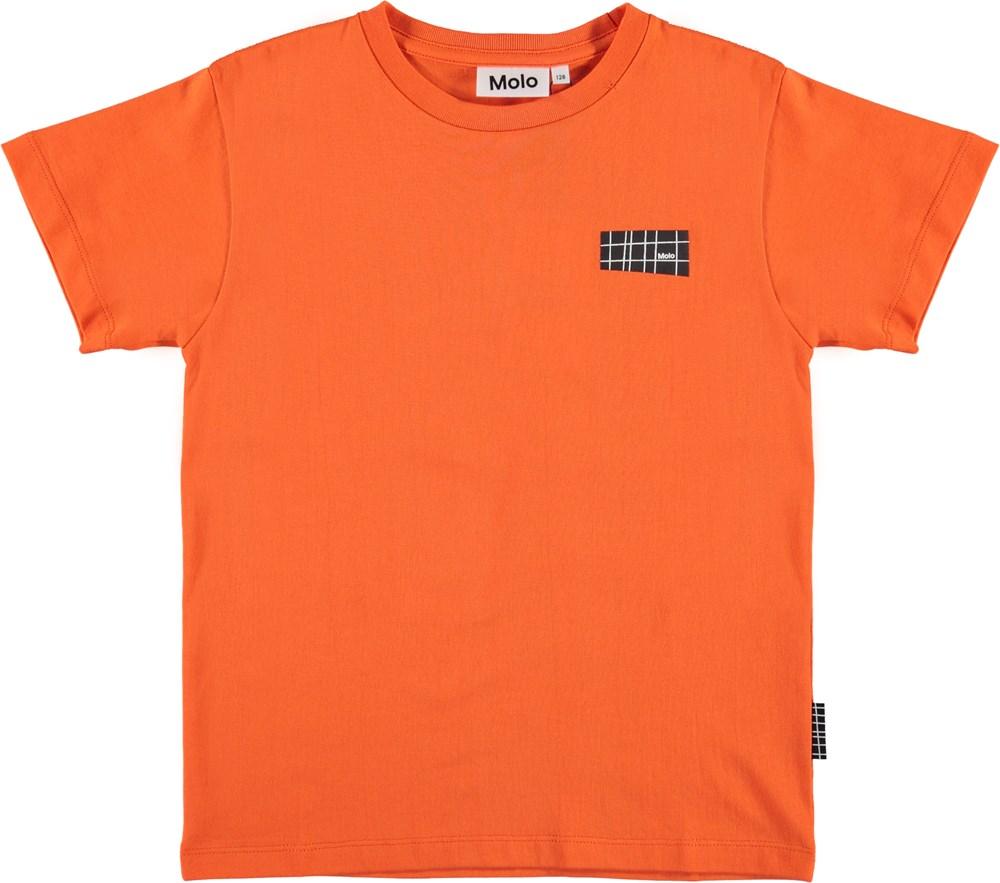 Rasmus - Signal Orange - Orange organic t-shirt