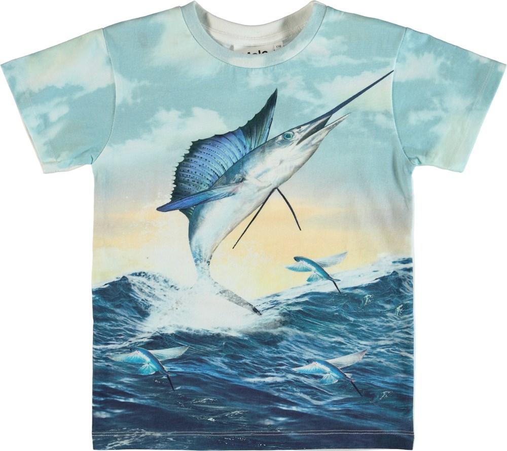 Raul - Catch - T-shirt with swordfish.
