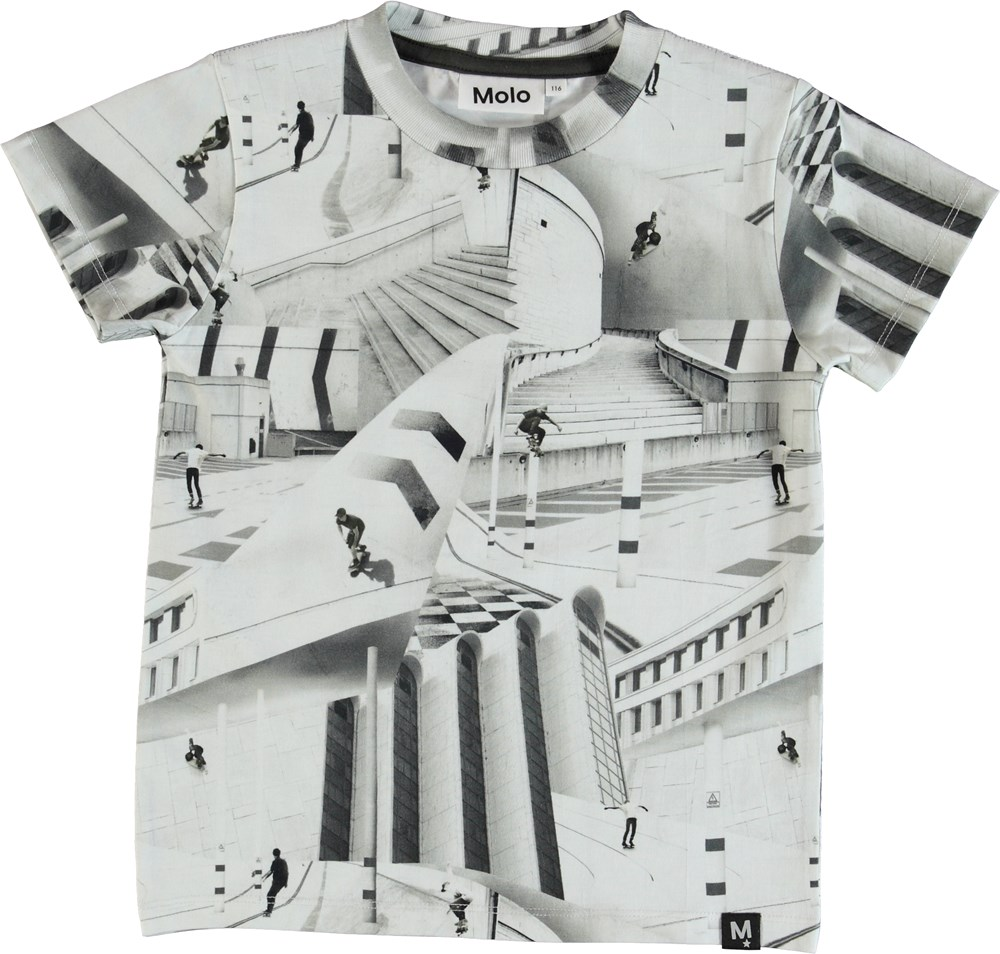 88aab5f8e562b7 Raymont - City Skate - T-shirt with a skater print. - Molo