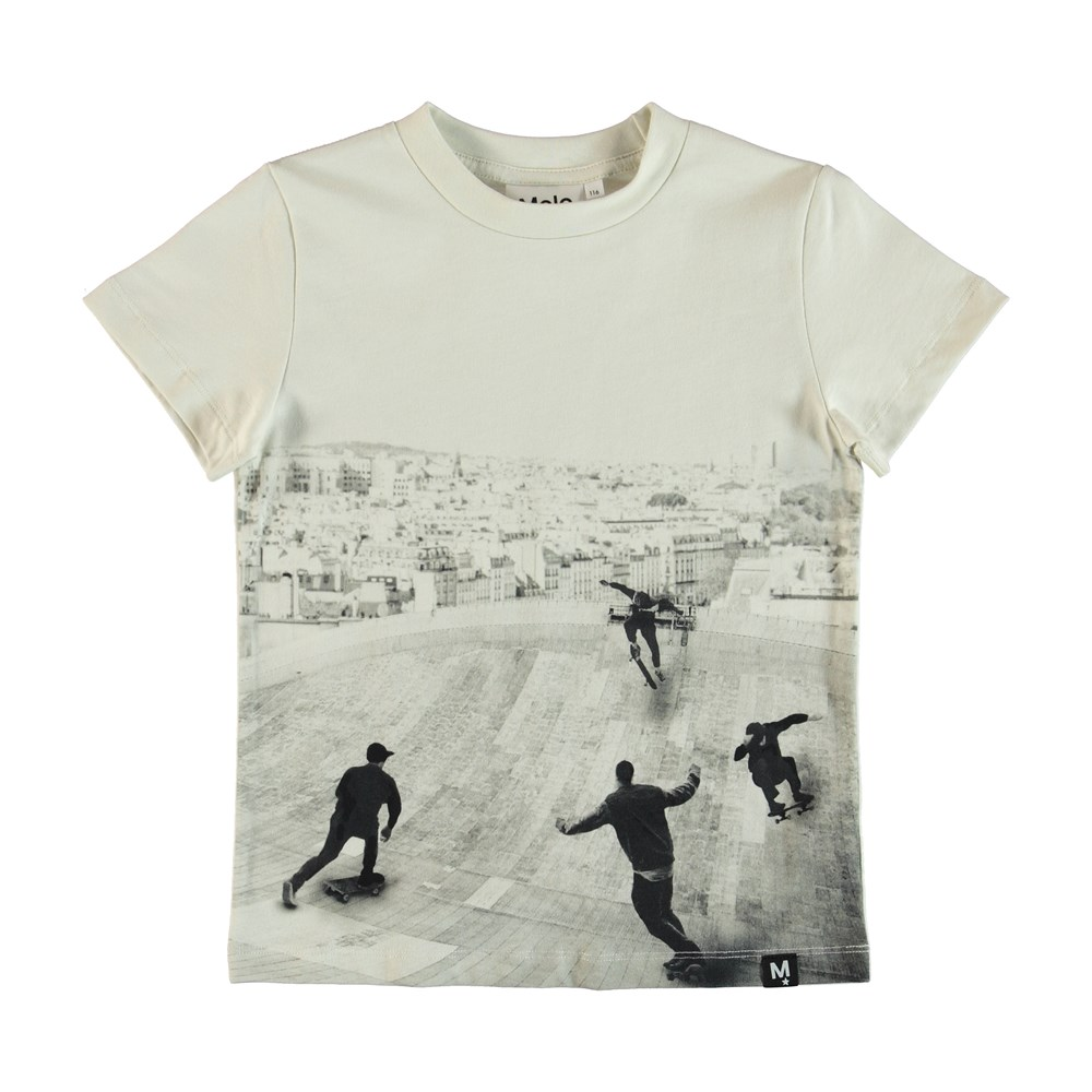 Raymont - Free Skate - T-shirt with skatepark print.