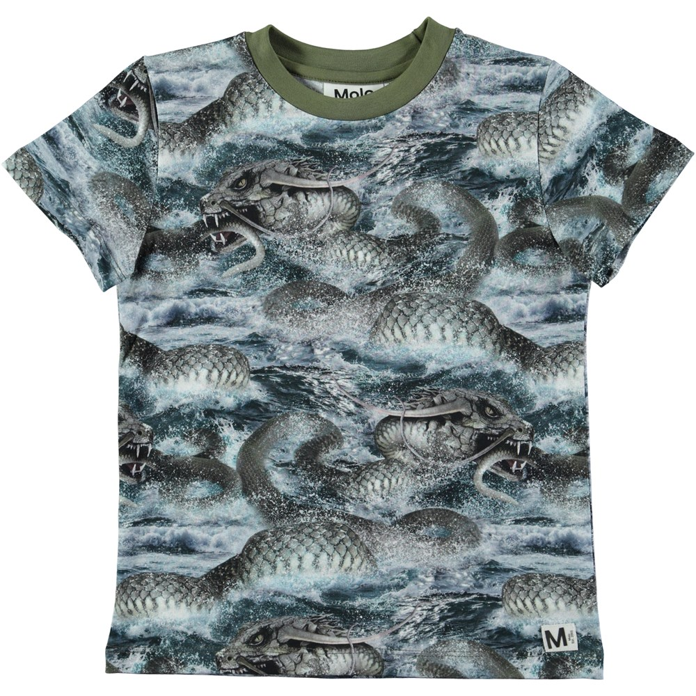 Raymont - Midgard Serpent - Short sleeve t-shirt with digital snake print