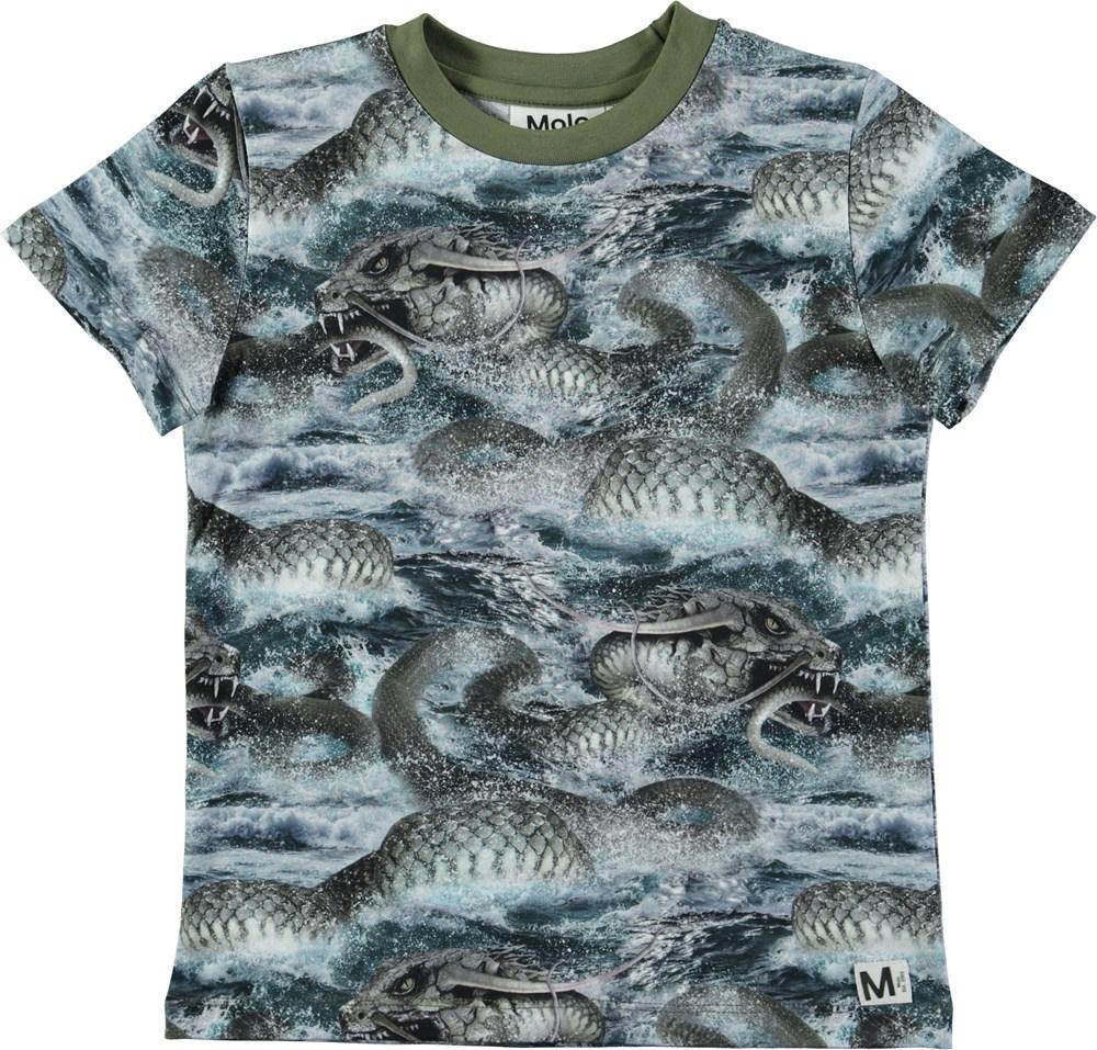 Raymont - Midgard Serpent - Short sleeve t-shirt with digital snake print