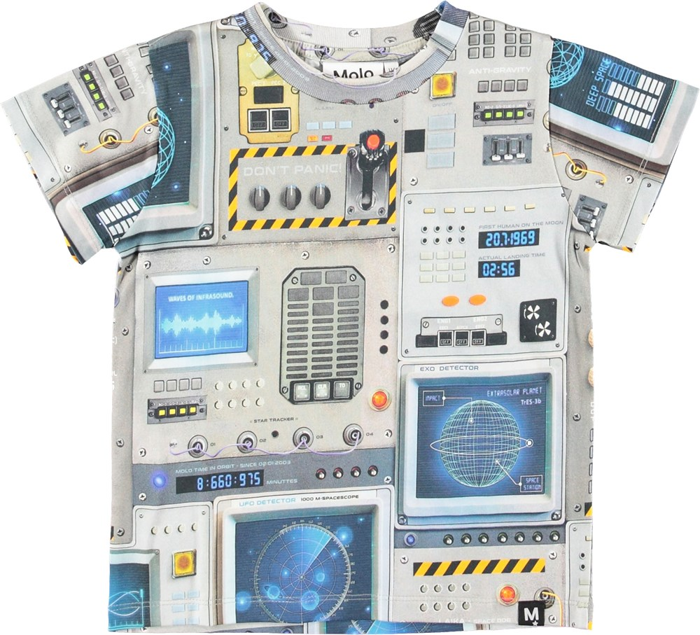 Raymont - Space Navigation - Grey t-shirt with a cockprint print.