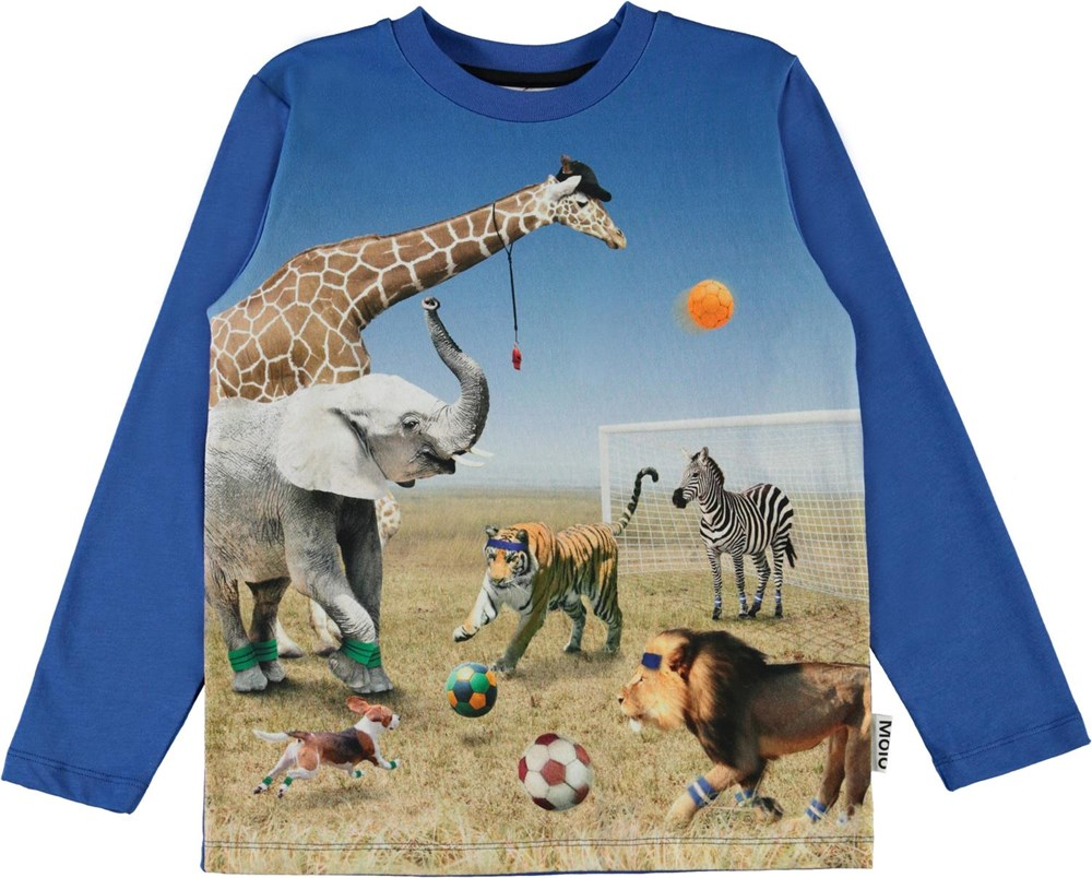 Reif - Football Game - Blue top with football animals