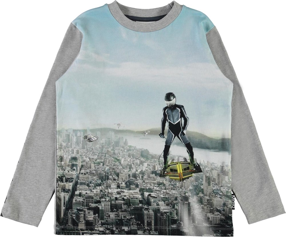 Reif - Hovercraft - Grey organic top with flying man