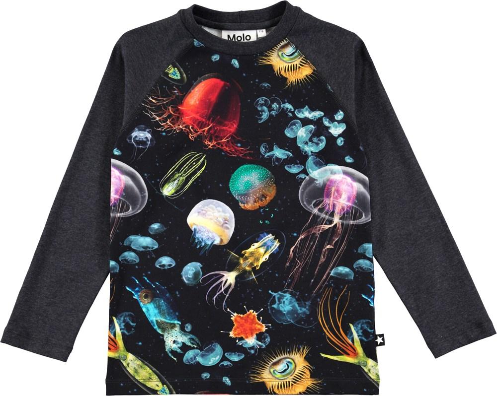 5b571bbff6a Remington - Jellyfish - Long sleeve t-shirt with digital sea life print