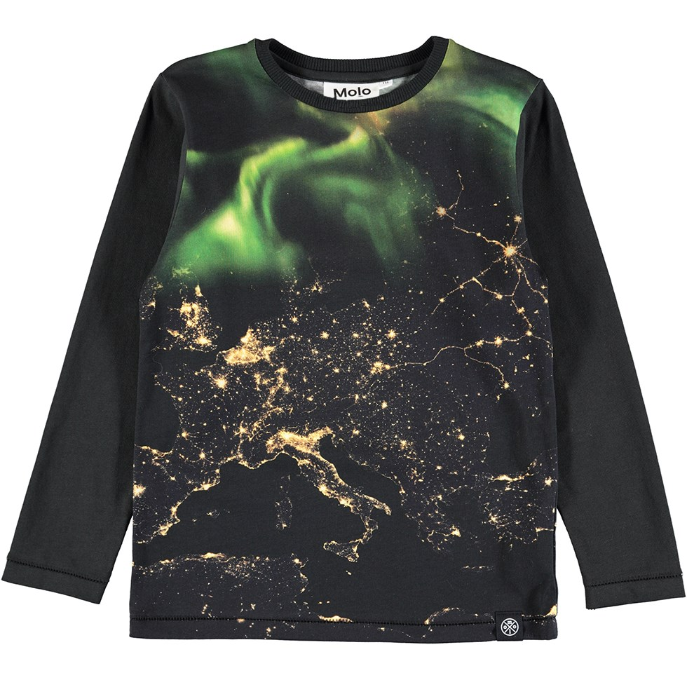 Rexol - Earth Lights - Long sleeve Northern Lights print