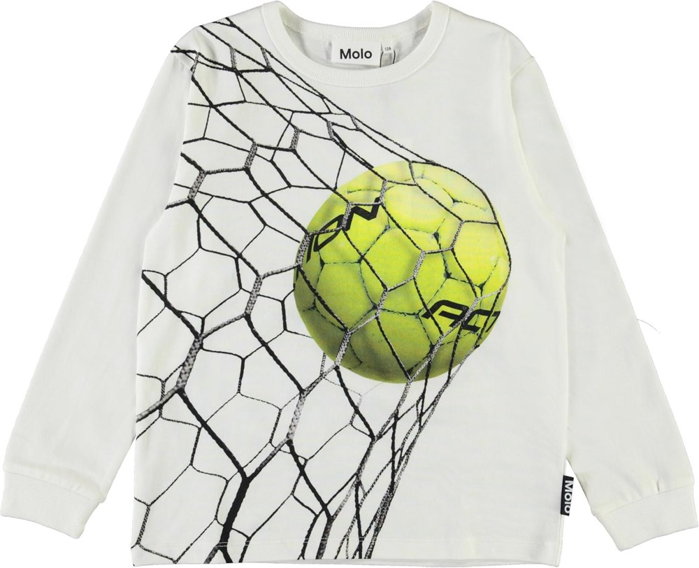 Rez - Action - White organic top with football print