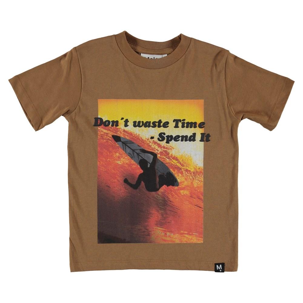 Rezin - Sunset Surf - T-Shirt - Brown