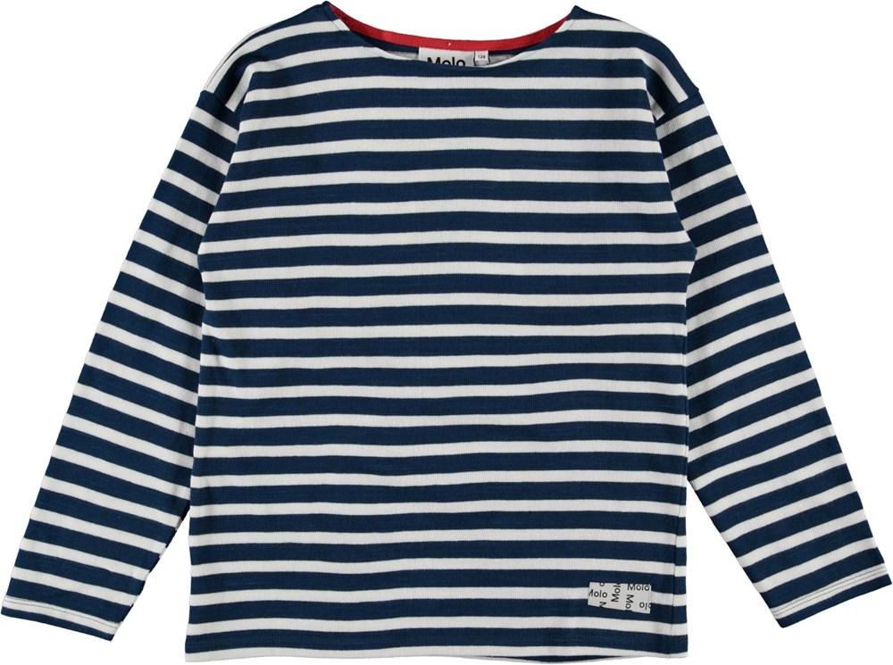 Rilder - Sea Breton - Blue and white striped organic top