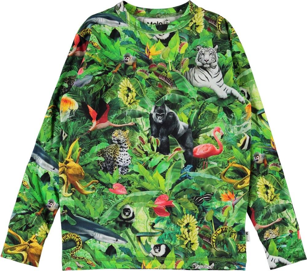 Rill - Fantasy Jungle - Organic top with animal print