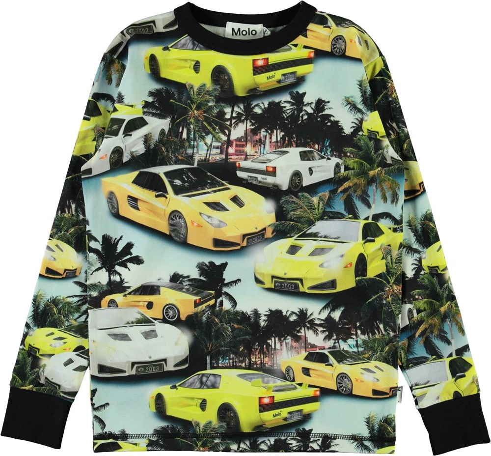 Rill - Fast Cars - Organic top with car and palm trees