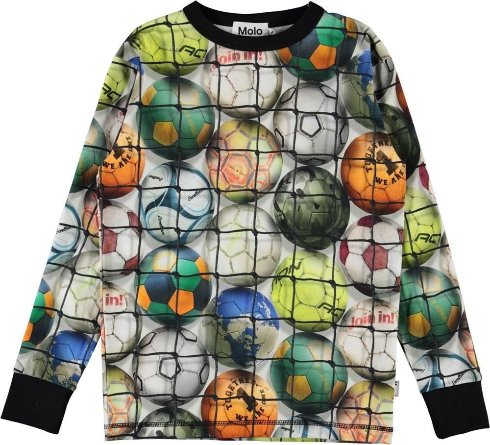 Rill - Footballs - Organic top with football print