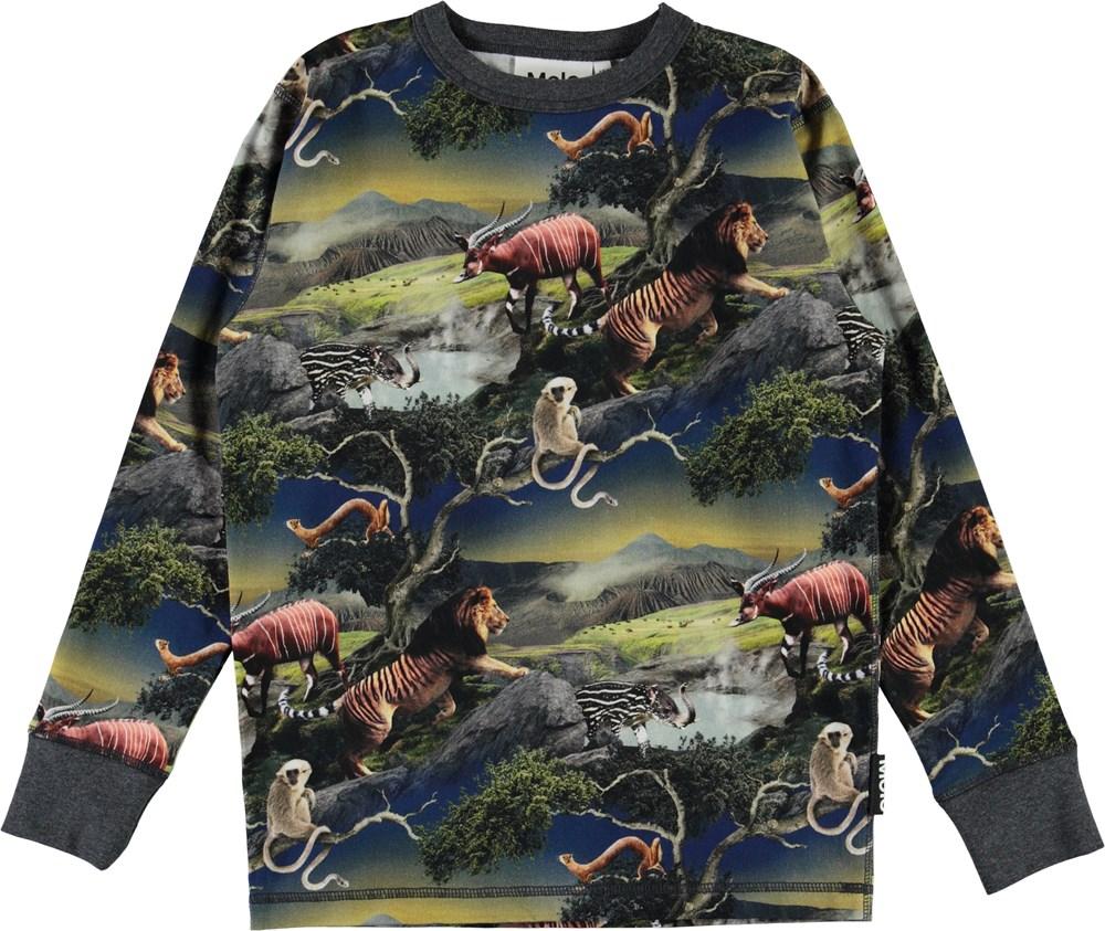 Rill - Future Animals - Organic top with animals