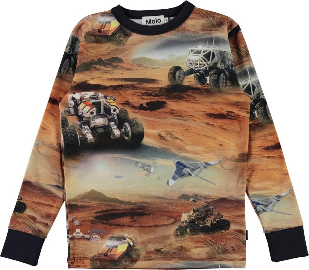 Rill - Mars - Long sleeve organic t-shirt with Mars print