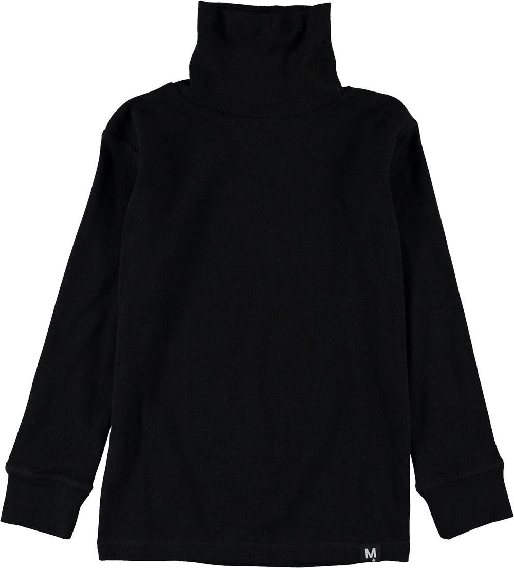 Rip - Black - Black rollneck top.