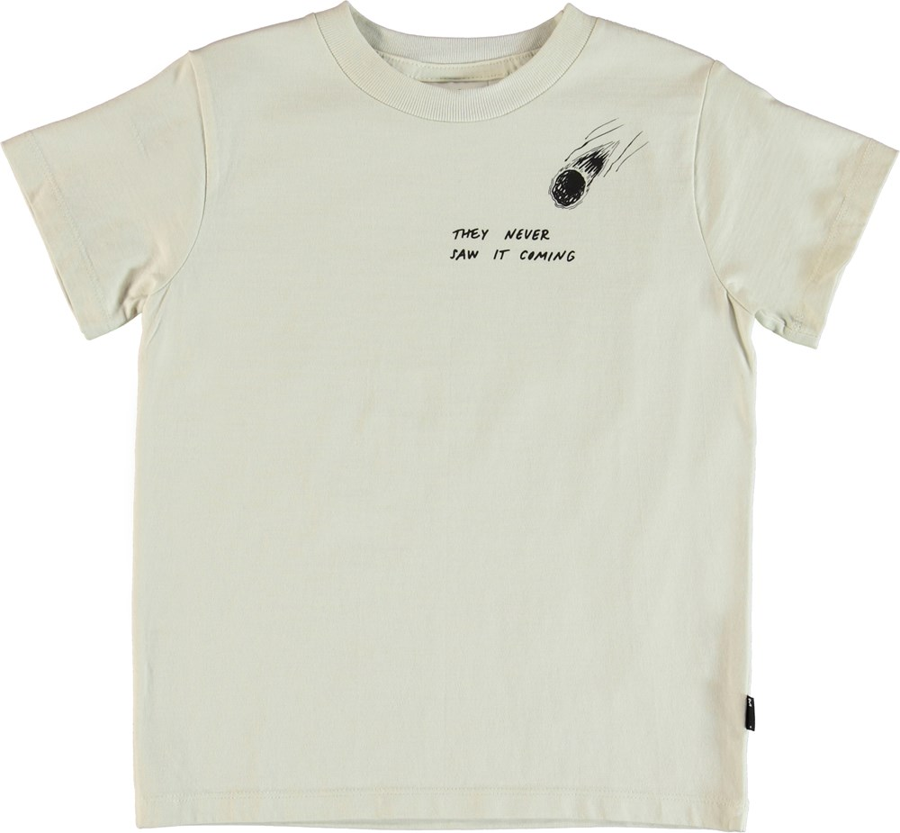 Road - Dirty White - T-shirt with print.