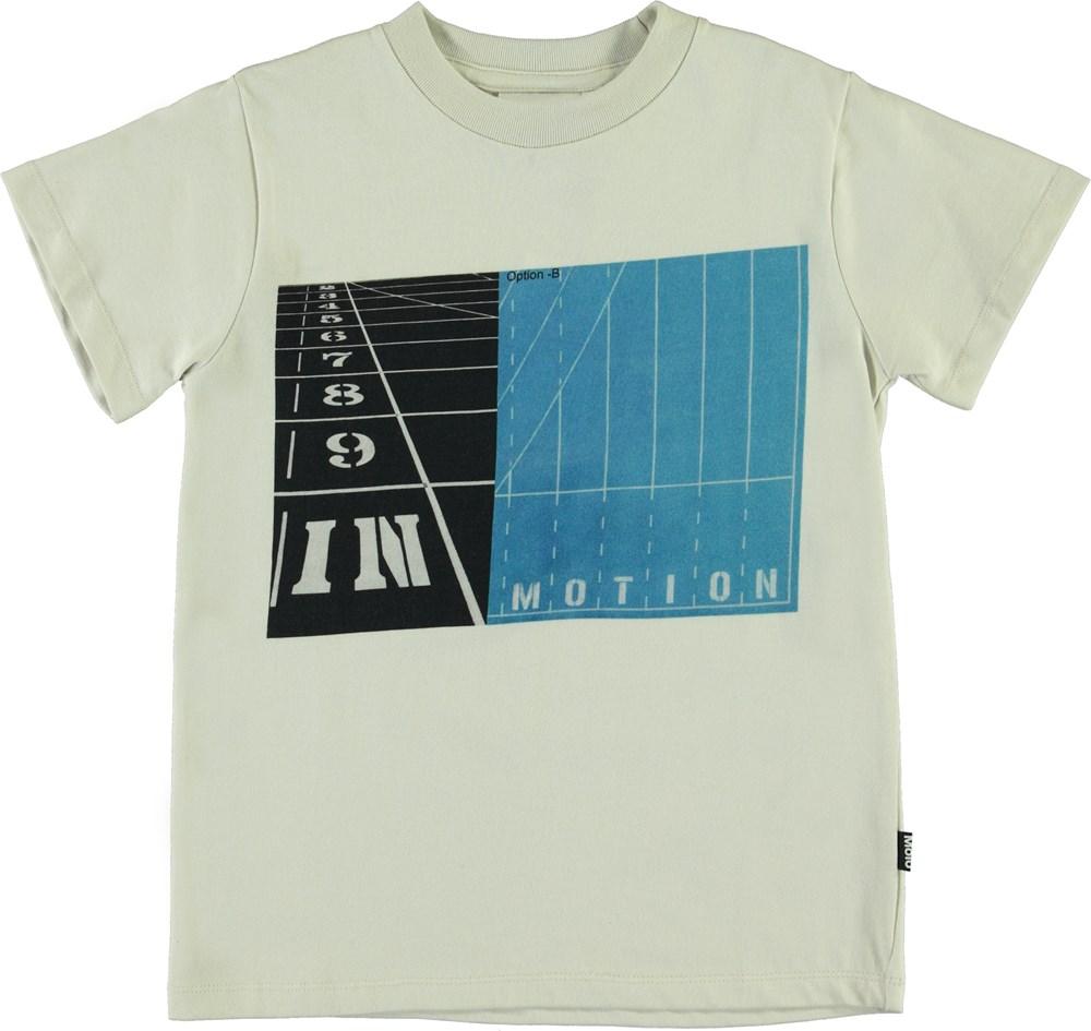 Road - In Motion - White organic t-shirt sports print