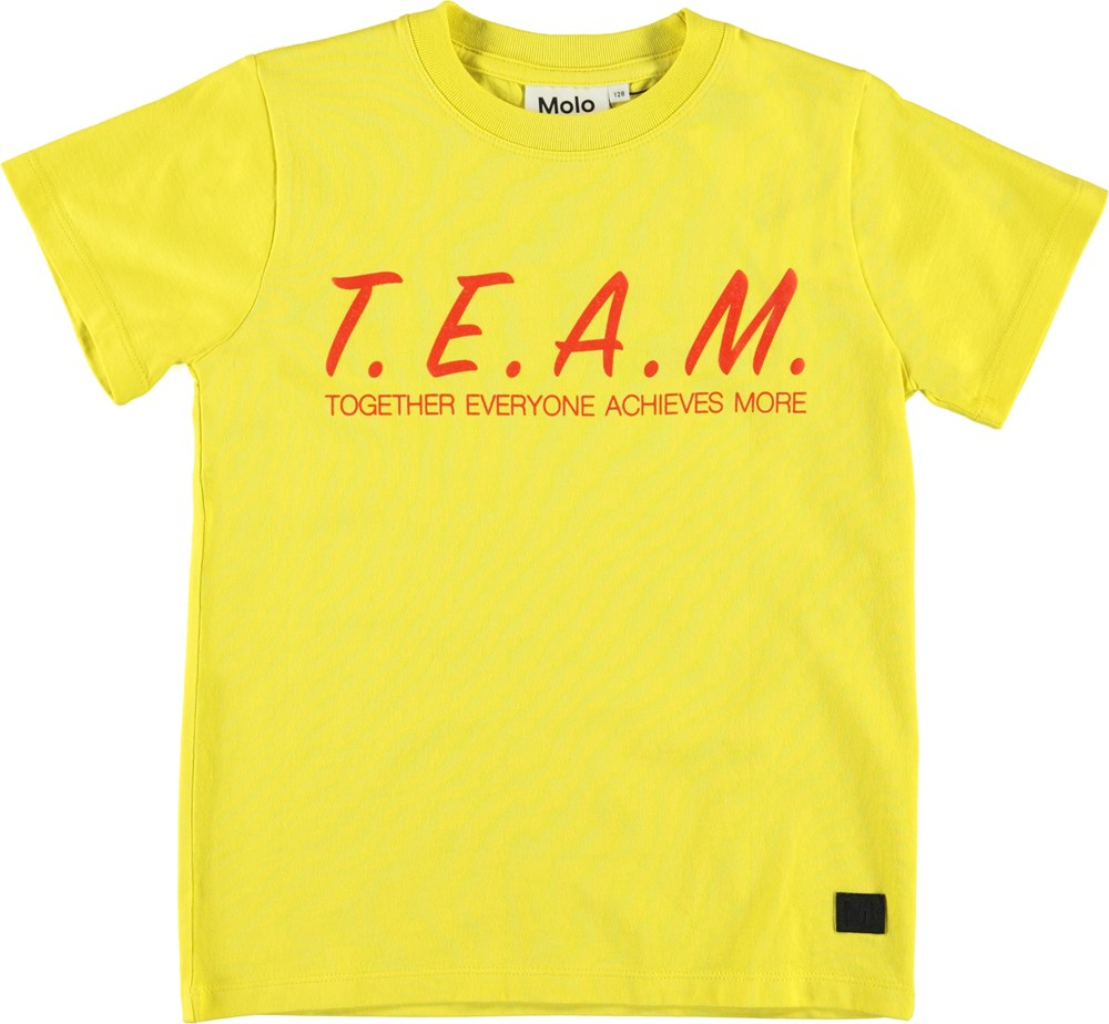Road - Lemon - Yellow t-shirt with team print