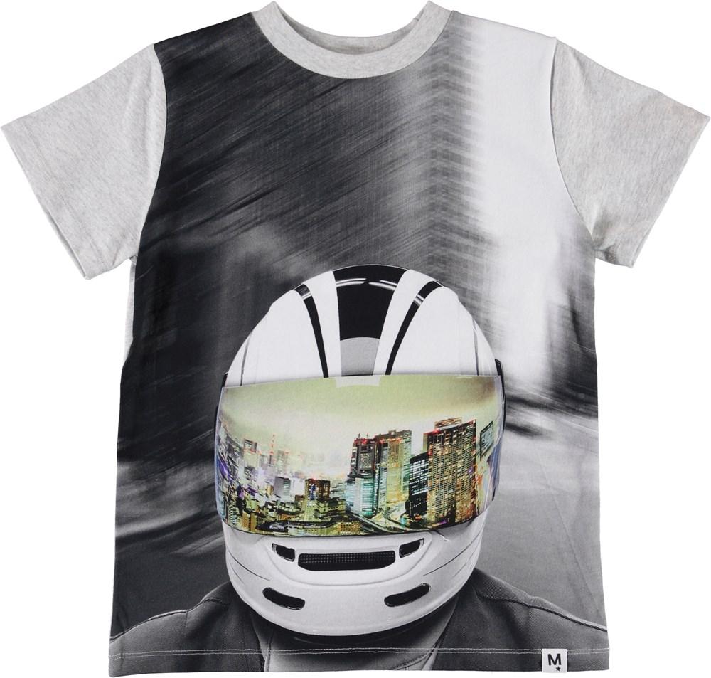 Road - MC Helmet - T-shirt with a motorcycle helmet print