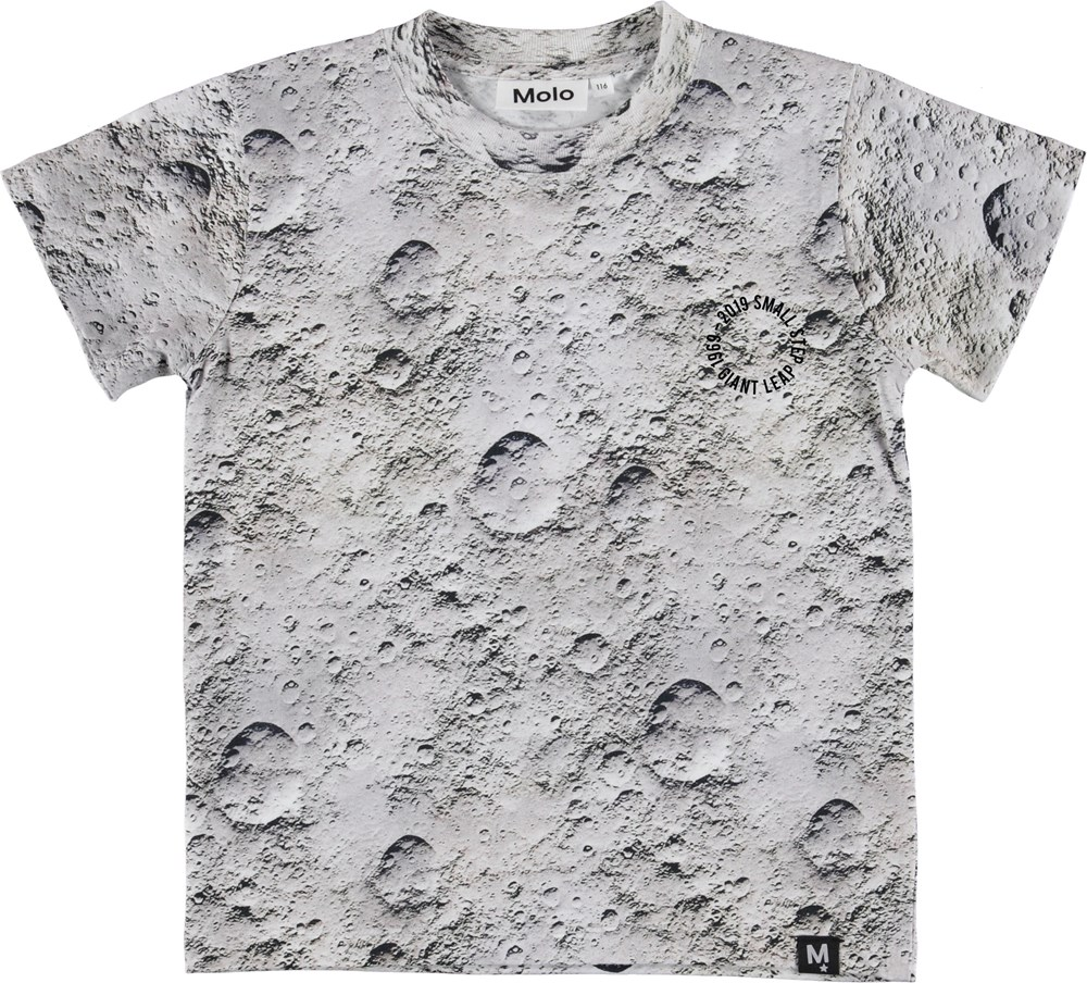Road - Moon - Grey t-shirt with moon print.