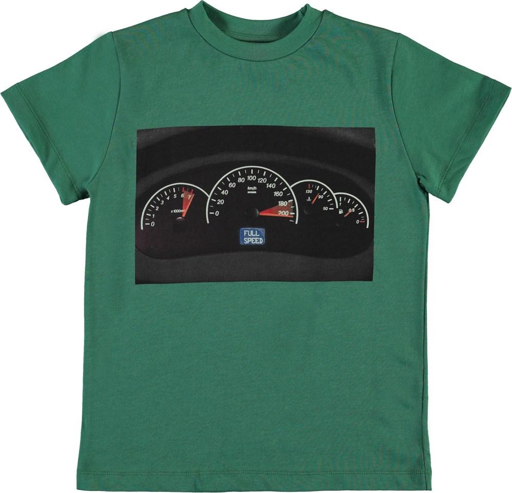 Road - Moonlight Leaf - Green organic t-shirt