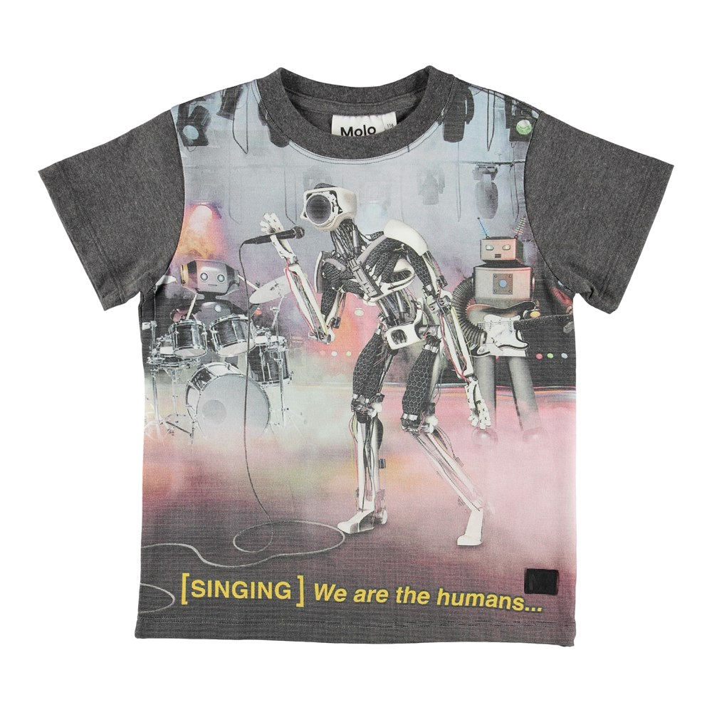 Road - Robot Band - T-shirt with singing robots.