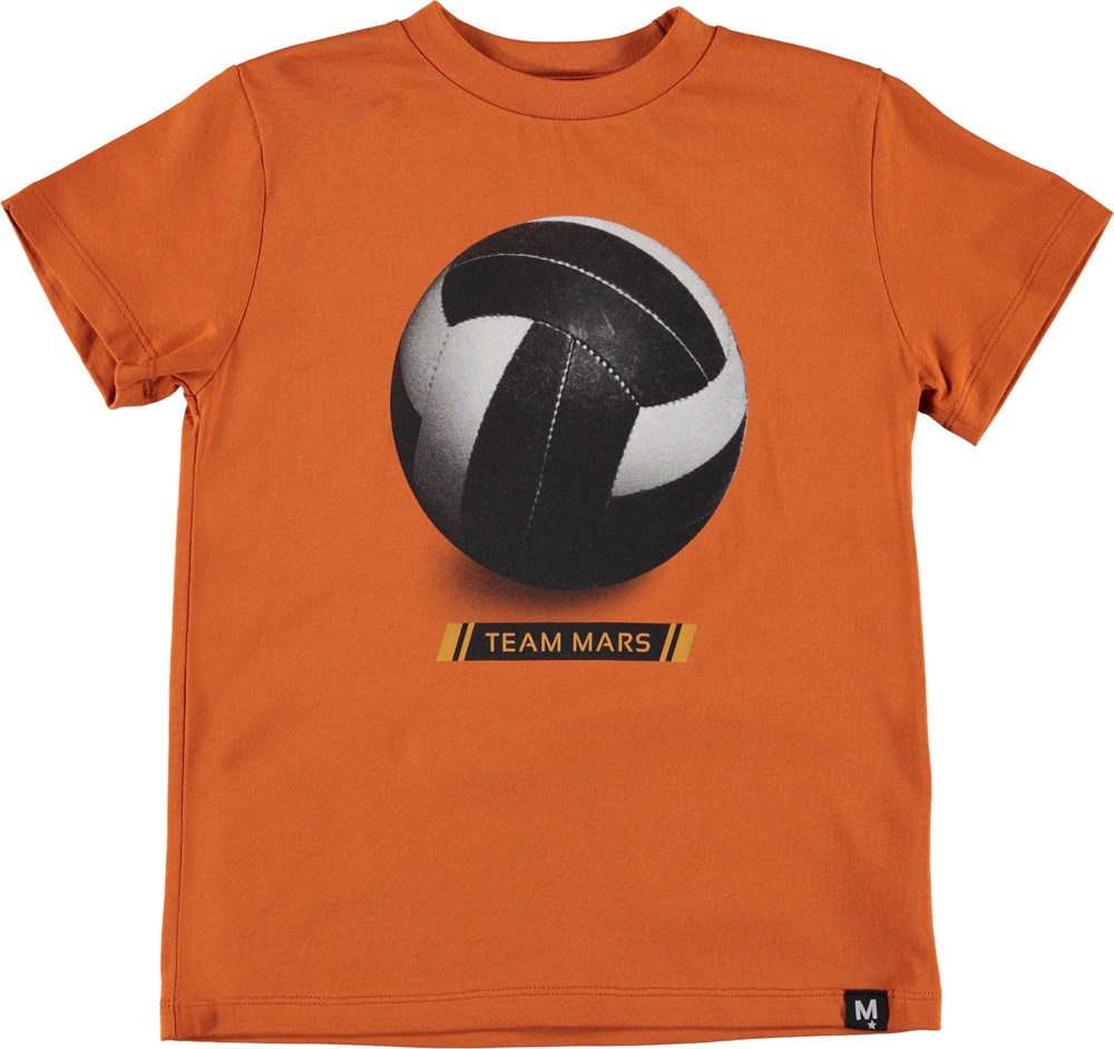 Road - Team Mars - Orange t-shirt with team Mars.