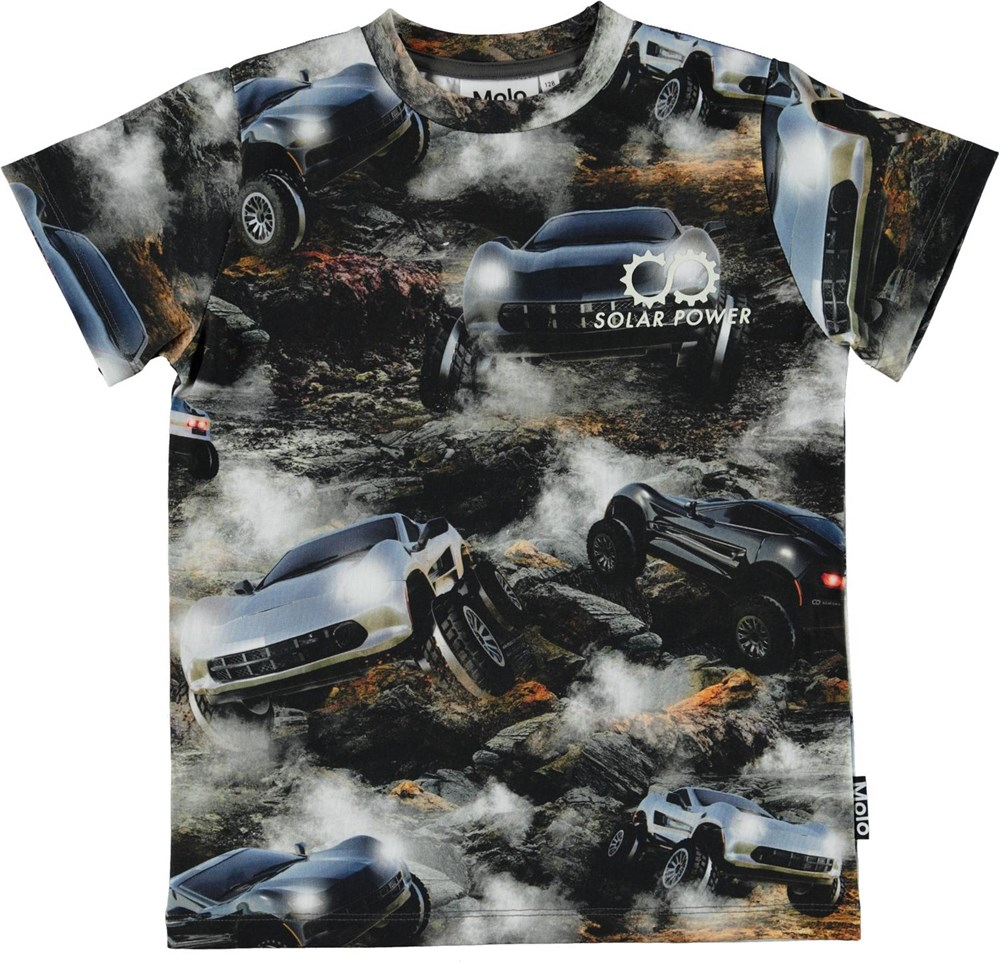Road - Terrain Goers - Organic t-shirt with large cars