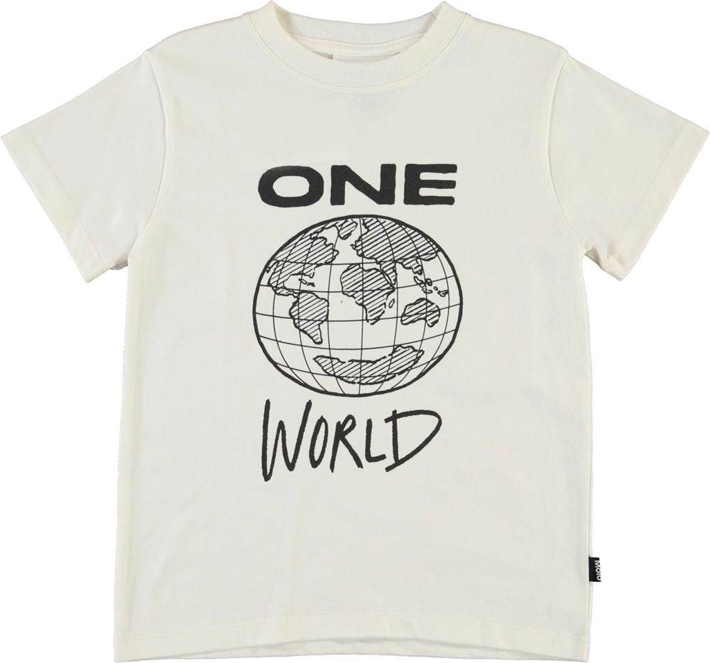 Road - White Star - White organic t-shirt one world