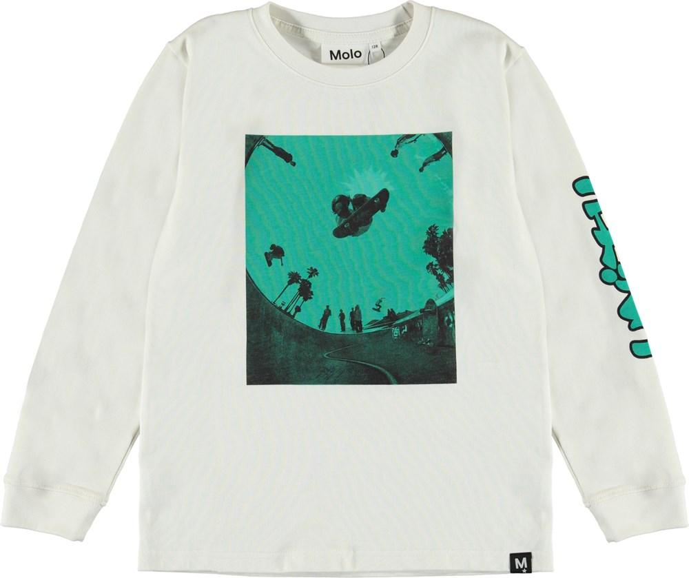 Rogert - Skatepool - White top with skate print