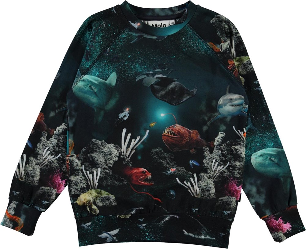 Romeo - Deep Sea - Organic top with ocean print