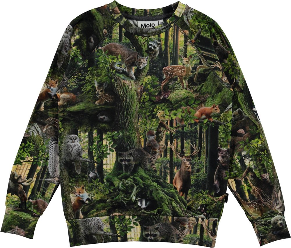 Romeo - Forest Life - Organic top with ocean print