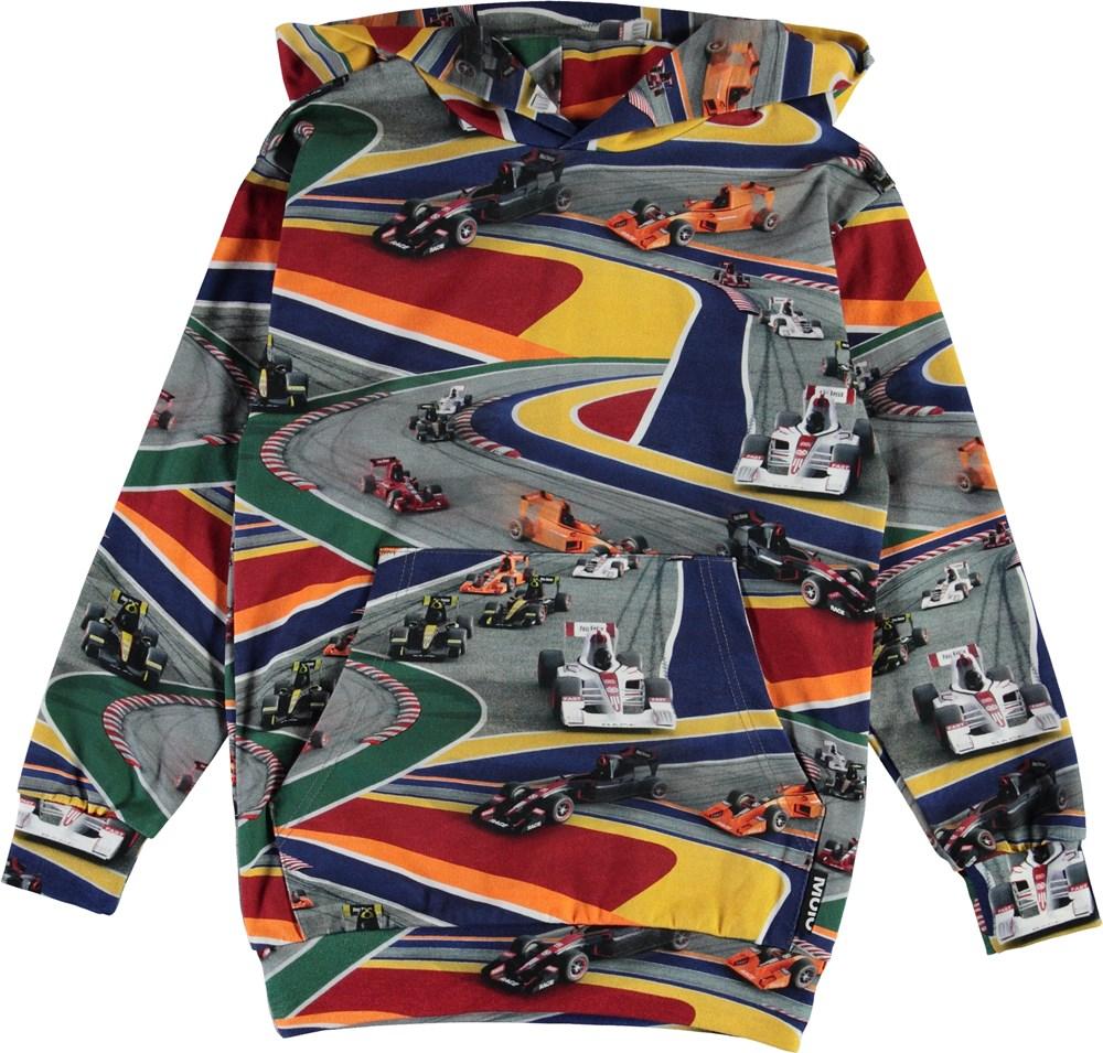 Romo - Full Speed - Organic hoodie with race cars
