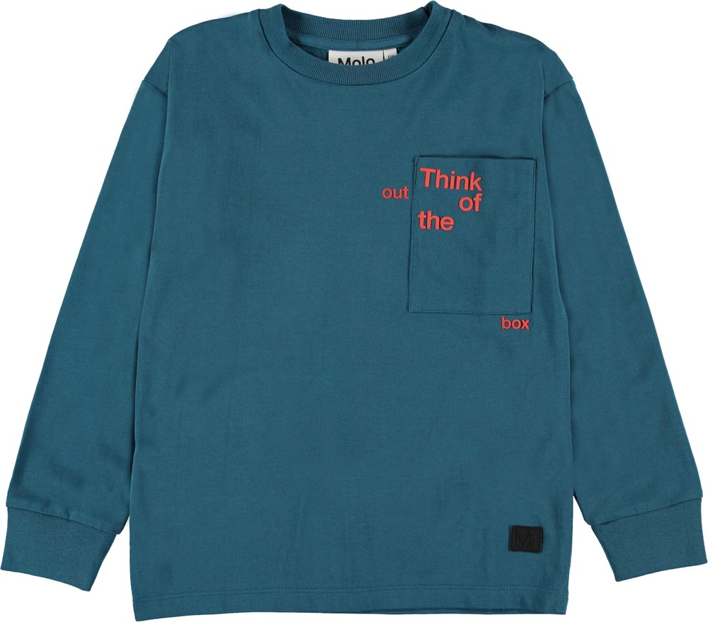 Rong - Frozen Deep - Blue top with pockets.