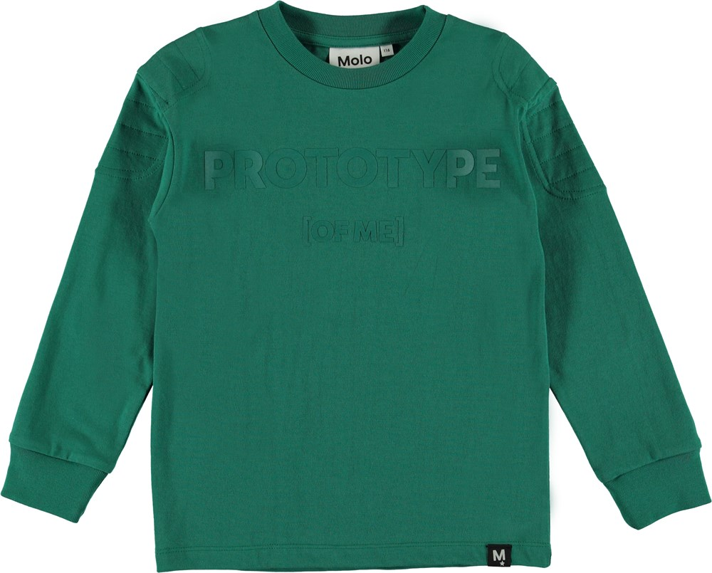 Rong - Galapagos Green - Top with rubber text.