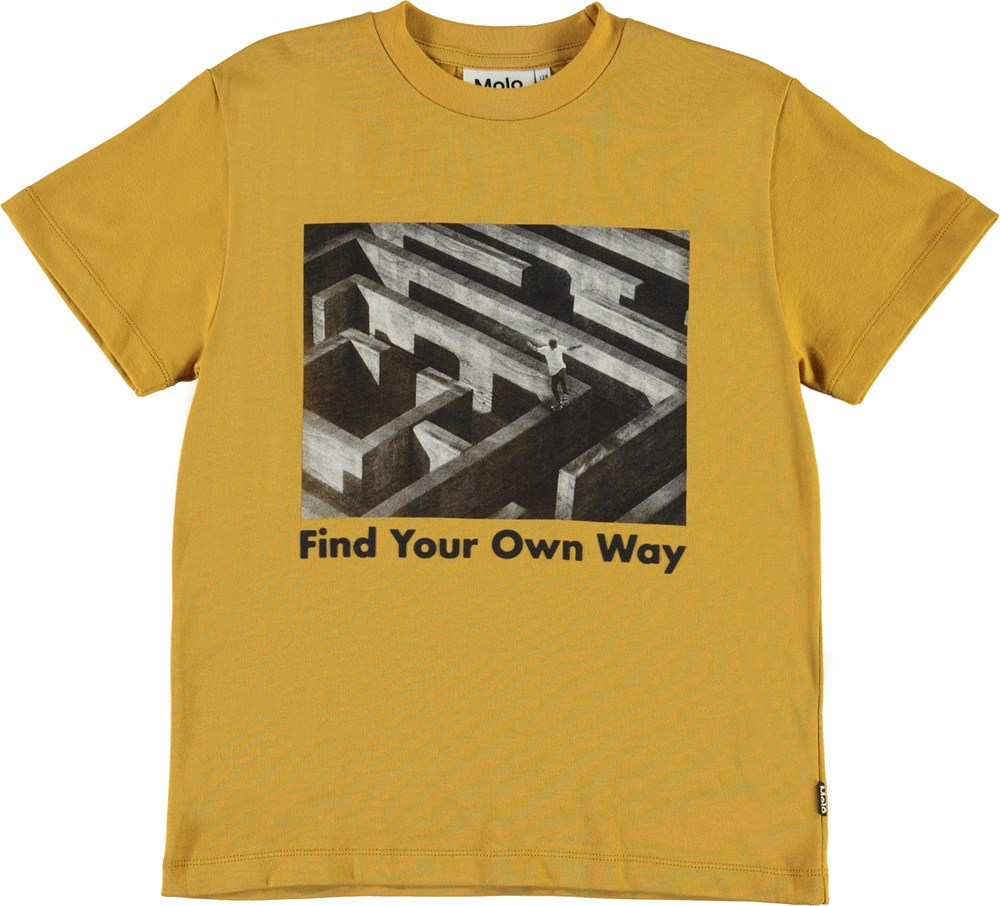 Roxo - Ancient Gold - Organic find your way t-shirt