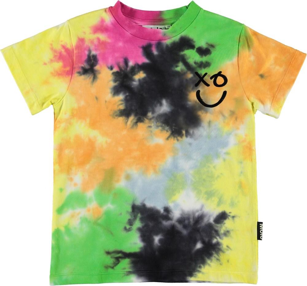 Roxo - Colour Blobs - Spray colour t-shirt