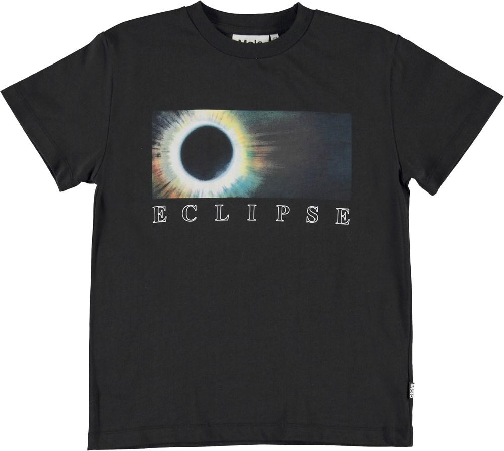 Roxo - Eclipse - Black organic eclipse t-shirt